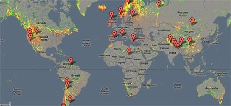 Mapa remotos