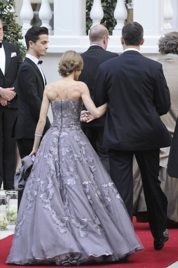 El vestido firmado Felipe Varela que lució la princesa Letizia en la cena de gala en Londres
