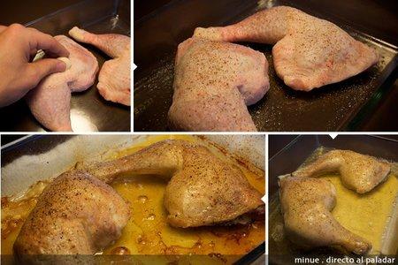 pollo a la cerveza - elaboración