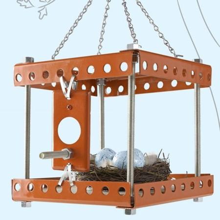 casa para pájaros estilo industrial