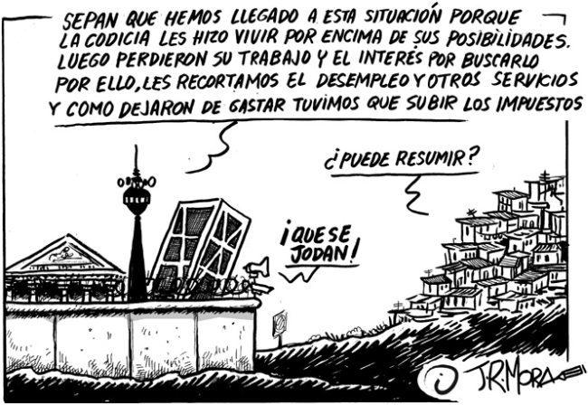 Respuesta cómica de J.R. Mora a la subida de los impuestos