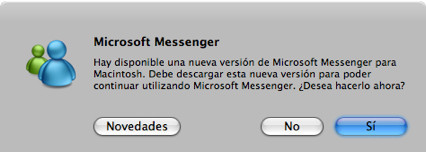 Messenger 6.02 para Mac ya disponible