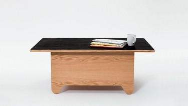 Mesa de centro y mini mesa de ping pong, dos en uno
