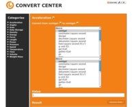 Convert Center, sencillo conversor de unidades