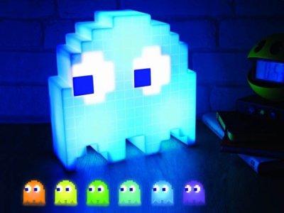 Lámpara fantasma Pac-man, un toque retro para la habitación de los niños