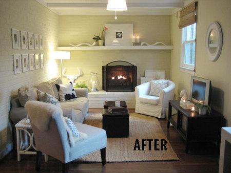 Antes y después: cambio de color en paredes y techos