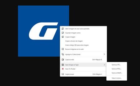 Esta extensión para Chrome y Edge permite guardar imágenes desde cualquier web convirtiéndolas automáticamente a JPG, PNG o WebP