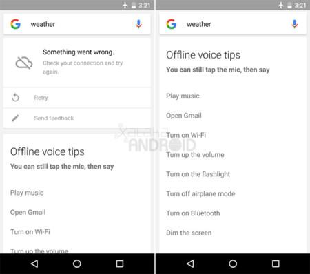 Google para Android estrena los comandos de voz sin conexión, pero sólo en inglés