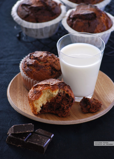 Muffins chocolate y vainilla