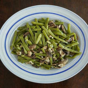 Salteado de judías verdes y champiñones al limón: receta fácil para una comida saludable