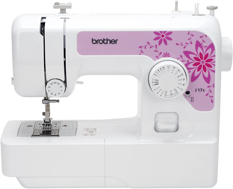 Brother J17s máquina de Coser, Blanco, L