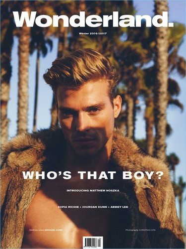 Matthew Noszka nos regala una portada genial para terminar el año en la revista Wonderland