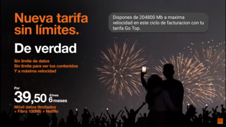 Orange asegura que sus tarifas ilimitadas no tienen límites ocultos de gigas y son a máxima velocidad