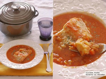 Receta aromática de bacalao en salsa de azafrán con hinojo