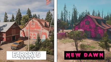 Far Cry New Dawn frente a Far Cry 5: un tour de 12 minutos por el condado de Hope y su versión post-nuclear a pantalla dividida