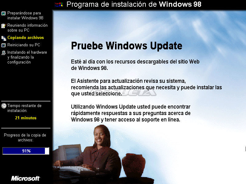 Foto de Programa de instalación de Windows 98 (9/10)