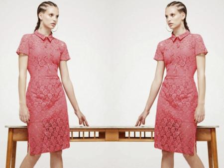 Burberry Primavera-Verano 2014 vestido crochet rosa clon Primark