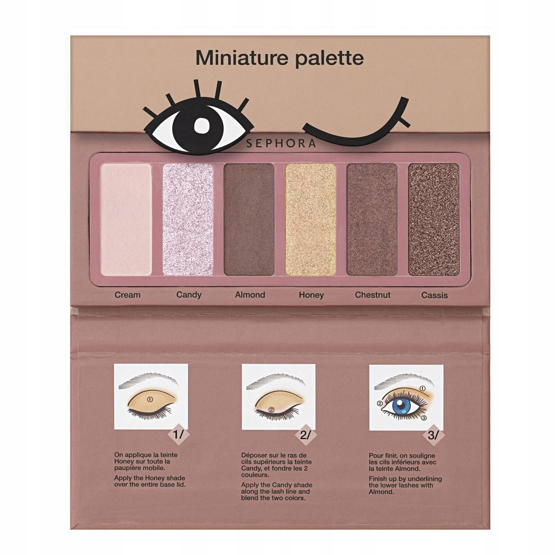 Paleta de sombras con instrucciones de Sephora Collection