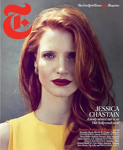 Jessica Chastain es la portada de The New York Times Style Magazine Summer 2012