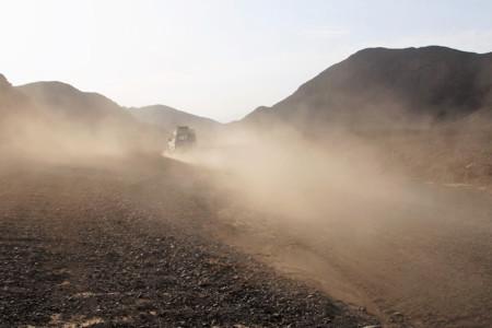 Polvo en suspensión en el desierto