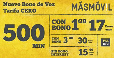 MÁSMÓVIL 500 llega para dar más flexibilidad a la tarifa cero