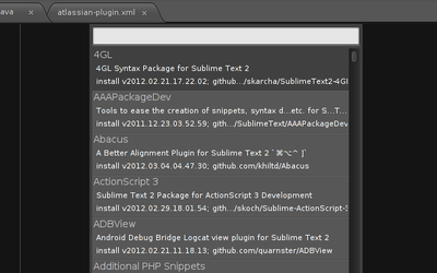 Sublime Text 2: Plugins, the easy way