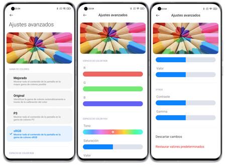 Xiaomi Mi 11 Ultra 02 Ajustes Pantalla Color