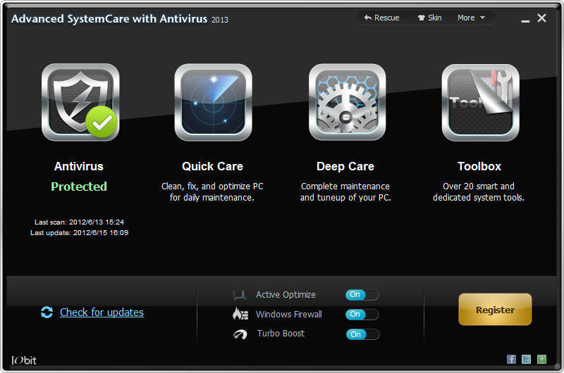 Foto de Advanced SystemCare con Antivirus 2013 (1/8)