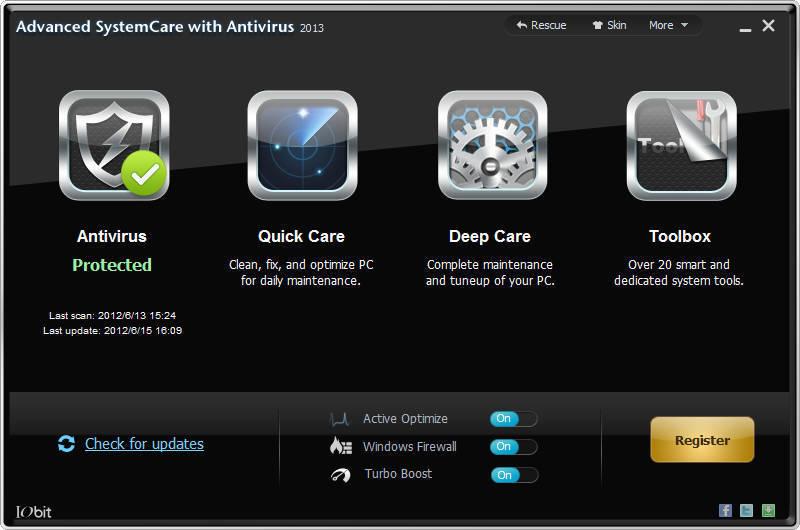 Foto de Advanced SystemCare con Antivirus 2013 (1/8)