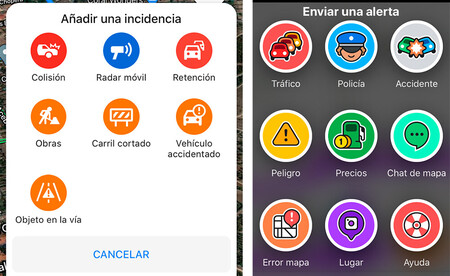 Alertas Google Maps y Waze