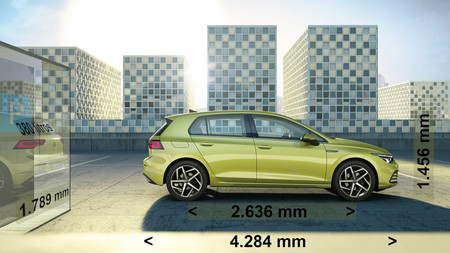 Volkswagen Golf 8 Dimensiones