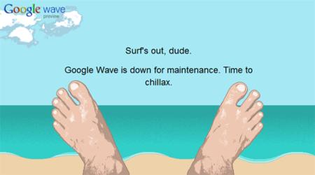 El curioso mensaje de mantenimiento de Google Wave