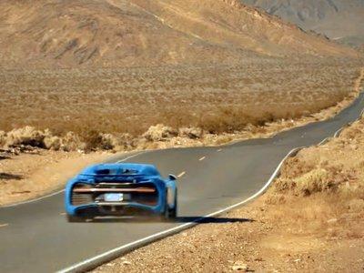El Valle de la Muerte, la zona de pruebas definitiva para cuatro Bugatti Chiron