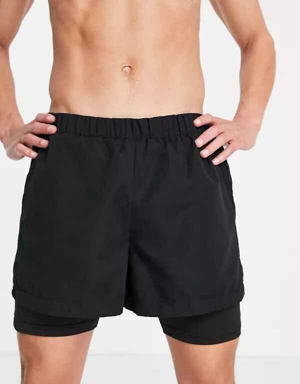 Shorts deportivos 2 en 1 de nailon de Bolongaro Trevor