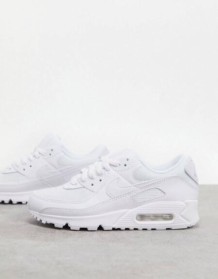 Zapatillas En Triple Blanco Air Max 90 De Nike