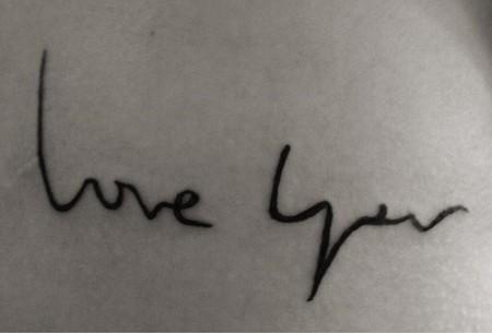 tatuaje soraya love you