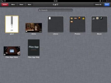 Files App, un buen programa muy fácil de usar