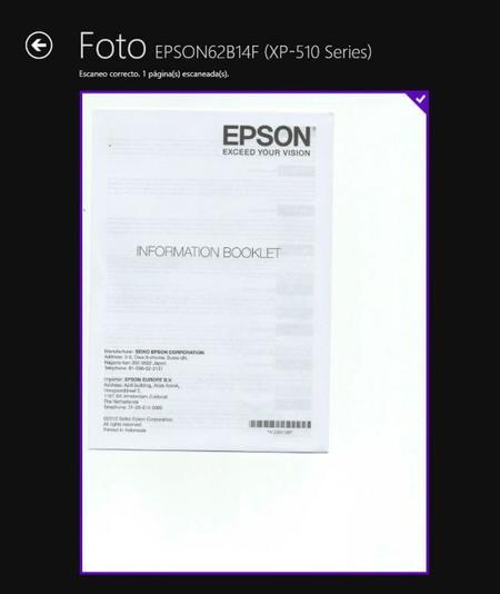 documento escaneado hp scan