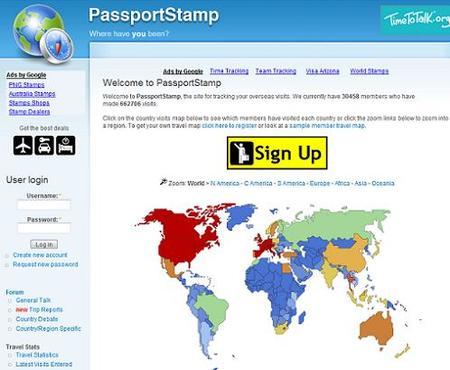 PassportStamp, registra tus viajes