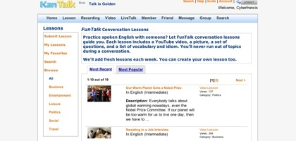KanTalk, otra forma de aprender y practicar idiomas a través de internet