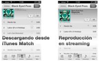 iOS 6 permite la reproducción en streaming de las canciones que tengamos en iTunes Match