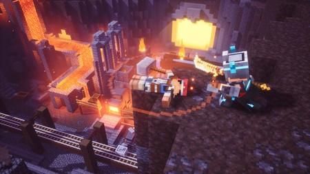 Minecraft Dungeons se muestra en acción repartiendo estopa a cuatro bandas [E3 2019]