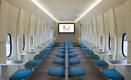 Aviones: diseño interior minimal