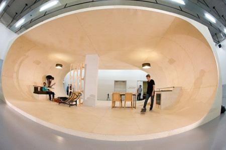 Una casa para los amantes del skateboard
