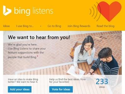 Bing Listens UserVoice, Microsoft recurre a la comunidad para mejorar Bing