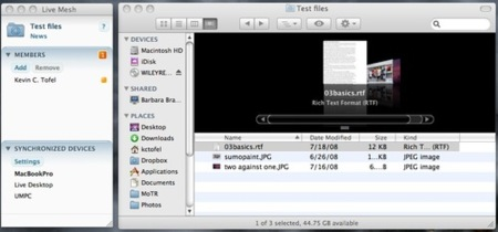 Live Mesh en Mac OS X