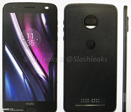 Moto Z2 Force Render