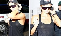 ¡Ups, Paris Hilton sale sin sujetador!