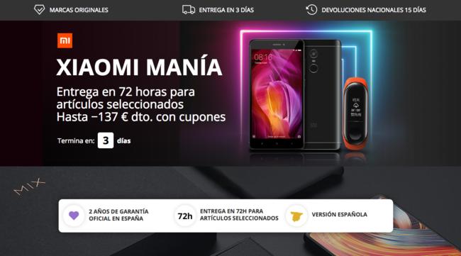 Xiaomi Manía en AliExpress Plaza con descuentos durante 72 horas y envíos desde España