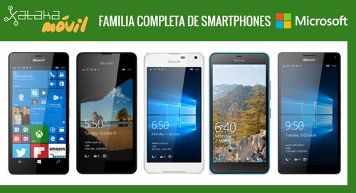 Así queda el catálogo de smartphones Microsoft tras la llegada del Microsoft Lumia 650